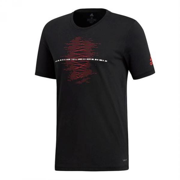 Adidas Men's Code Graphic Tennis Tee (Black)