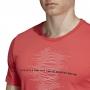 Adidas Men's Code Graphic Tennis Tee (Shock Red)