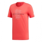 Adidas Men's Code Graphic Tennis Tee (Shock Red) -