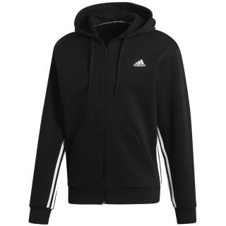 Adidas Men's Must Haves 3-Stripes Tennis Hoodie (Black/White)