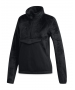 Adidas Women's Fleece Half-Zip Tennis Warmup Sweatshirt (Black) - Inventory Blowout! Save up to 70% on In-Stock Items