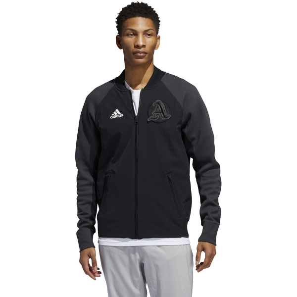 Adidas Men's NY City Zipper Tennis Jacket (Black)