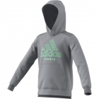 Adidas Boys' Club Tennis Hoodie (Grey Three) -