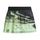 Adidas Women's NY Tennis Skirt (Glow Green/Black) - Women's Tennis Apparel