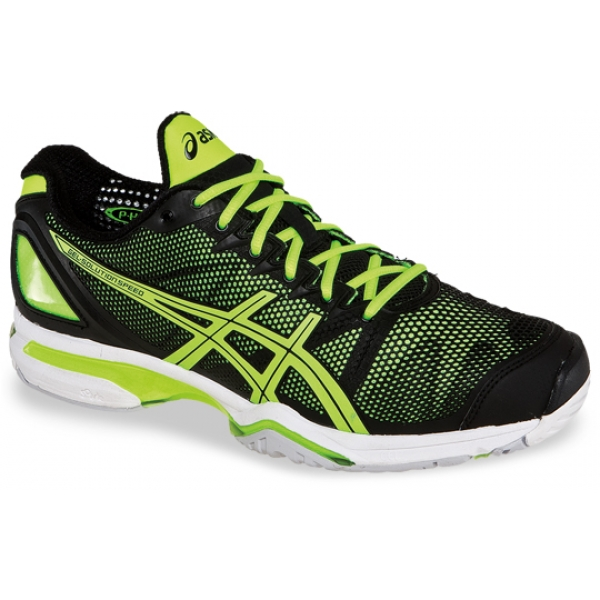 Asics Men's GEL-Solution Speed Tennis Shoes (Black/Yellow)