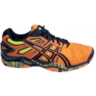Asics Men's Gel Resolution 5 Shoes (Orange/ Black/ Yellow) - Asics Tennis Shoes