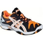 Asics Men's Gel Resolution 5 Shoes (Black/ Orange/ White) - Asics Tennis Shoes