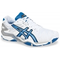 Asics Men's Gel Resolution 5 Shoes (White/Blue/Silver)