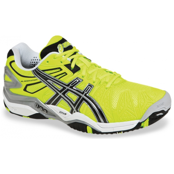 Asics Men's Gel Resolution 5 Shoes (Yellow/Black/Silver)