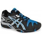 Asics Men's Gel Resolution 5 Shoes (Black/Blue/Silver) - Tennis Shoe Brands