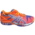 Asics Women's Gel Resolution 5 Shoes (Orange/ Purple/ White)