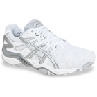 Asics Women's Gel Resolution 5 Shoes (White/Silver) - Asics Tennis Shoes