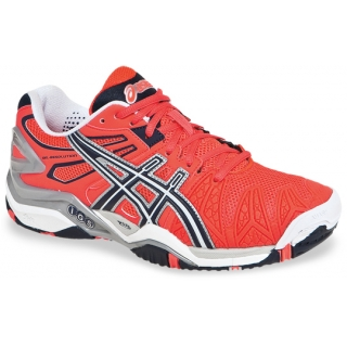 Asics Women's Gel Resolution 5 Shoes (Pink/Blue/Silver)