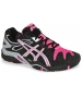 Asics Women's Gel Resolution 5 Shoes (Black/Hot Pink/Silver) - Asics Tennis Shoes