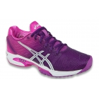 Asics Women's GEL-Solution Speed 2 Tennis Shoes (Purple/White/Hot Pink) - Asics