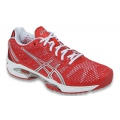 Asics Women's GEL-Solution Speed 2 Tennis Shoes (Hibiscus/Silver/White)