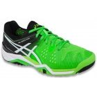 Asics Men's Gel Resolution 6 Shoes (Flash Green/White/Black) - Men's Tennis Shoes