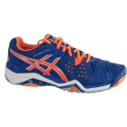Asics Men's Gel Resolution 6 Shoes (Blue/ Orange/ Silver) - Asics Tennis Shoes