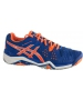 Asics Men's Gel Resolution 6 Shoes (Blue/ Orange/ Silver) - Asics Gel-Resolution Tennis Shoes
