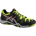 Asics Men's Gel Resolution 6 Shoes (Onyx/ Silver/ Yellow)