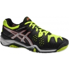Asics Men's Gel Resolution 6 Shoes (Onyx/ Silver/ Yellow) - Asics Tennis Shoes