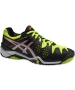 Asics Men's Gel Resolution 6 Shoes (Onyx/ Silver/ Yellow) - Asics Gel-Resolution Tennis Shoes