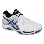 Asics Men's Gel Resolution 6 Shoes (White/ Silver/ Blue) - Asics Tennis Shoes