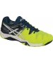 Asics Men's Gel Resolution 6 Tennis Shoes (Yellow/White/Blue) - 6-Month Warranty Shoes