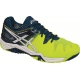 Asics Men's Gel Resolution 6 Tennis Shoes (Yellow/White/Blue) - Asics