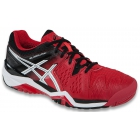Asics Men's Gel Resolution 6 Shoes (Fiery Red/Black/White) - Asics Gel-Resolution Tennis Shoes