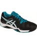 Asics Men's Gel Resolution 6 Tennis Shoes (Black/Blue/White) - 6-Month Warranty Shoes