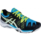 Asics Men's Gel Resolution 6 Shoes (Onyx/ White/ Blue) - Asics Tennis Shoes