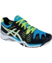 Asics Men's Gel Resolution 6 Shoes (Onyx/ White/ Blue) - Asics Gel-Resolution Tennis Shoes