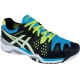 Asics Men's Gel Resolution 6 Shoes (Onyx/ White/ Blue) - Tennis Shoe Guarantee