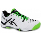 Asics Men's Challenger 10 Tennis Shoes (White/Silver/Flash Green) - Men's Tennis Shoes