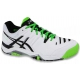 Asics Men's Challenger 10 Tennis Shoes (White/Silver/Flash Green) - Asics
