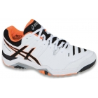 Asics Men's Challenger 10 Tennis Shoes (White/ Black/ Flash Orange) - Asics Challenger Tennis Shoes