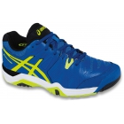 Asics Men's Challenger 10 Tennis Shoes (Blue/ Flash Yellow/ Black) - Asics Challenger Tennis Shoes