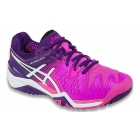 Asics Women's Gel Resolution 6 Shoes (Hot Pink/White/Purple) - New Tennis Shoes