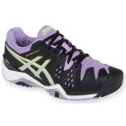 Asics Women's Gel Resolution 6 Shoes (Black/ Silver/ Orchid) - Asics Tennis Shoes
