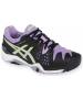 Asics Women's Gel Resolution 6 Shoes (Black/ Silver/ Orchid) - Asics Gel-Resolution Tennis Shoes