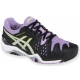 Asics Women's Gel Resolution 6 Shoes (Black/ Silver/ Orchid) - Tennis Shoe Guarantee