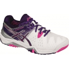 Asics Women's Gel Resolution 6 Tennis Shoes (White/Purple/Pink) - Women's Tennis Shoes