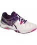Asics Women's Gel Resolution 6 Tennis Shoes (White/Purple/Pink) - 6-Month Warranty Shoes
