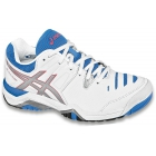 Asics Women's Challenger 10 Tennis Shoes (White/ Silver/ Blue) - Women's Tennis Shoes