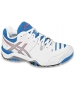 Asics Women's Challenger 10 Tennis Shoes (White/ Silver/ Blue) - Asics