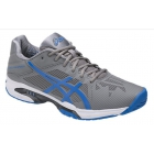 Asics Men's GEL-Solution Speed 3 Tennis Shoes (Aluminum/Electric Blue/White) - Asics Gel-Solution Speed Tennis Shoes