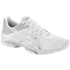 Asics Women's GEL-Solution Speed 3 Tennis Shoes (White/Silver) - Asics Tennis Shoes