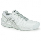 Asics Men's Gel Resolution 7 Tennis Shoes (White/Silver) - Asics Gel-Resolution Tennis Shoes