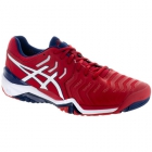 Asics Men's Gel Resolution 7 Tennis Shoes(True Red/White/Indigo Blue)  - Asics Tennis Shoes
